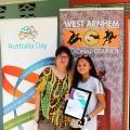 Jabiru's 2020 Young Citizen of the Year Award recipient Kia Gowler picture with Cr Williams at the awards ceremony! #australiaday2020 #westarnhemland #westarnhem #jabiru #citizenoftheyear