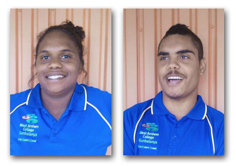 Kirsty Garnarrdj (left) and Arijay Camp (right). Kirsty is winner ofthe inaugural Karmi Sceney Indigenous Excellence and Leadership Award, whileArijay Camp won the Northern Territory School Based Apprentice of the Year Award.