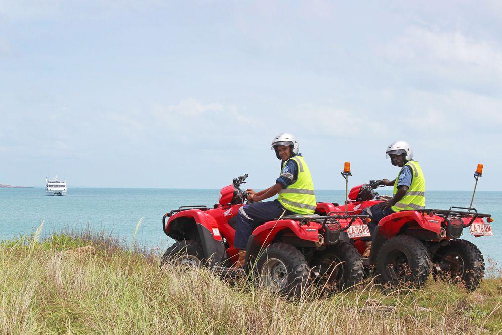 Mardbalk Rangers bid 'bon voyage' to a cruise ship visiting Warruwi on April 7.