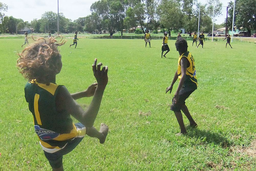 The Australia Day long weekend footy match at Maningrida was a hit with the kids.
